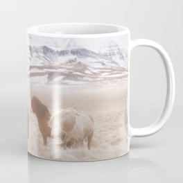 WILD AND FREE 3 - HORSES OF ICELAND Coffee Mug