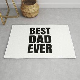 BEST DAD EVER (Black Art) Rug