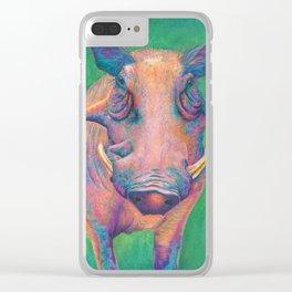 Wild Warthog Clear iPhone Case