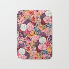 Floral Pink Pattern Bath Mat