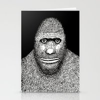 bigfoot Stationery Cards featuring Bigfoot by The Art of Filippo Borghi
