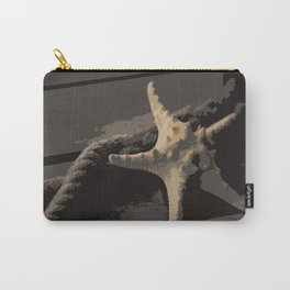 Starfish and boat rope on the pier - dark background - #Society6 - #buyart Carry-All Pouch