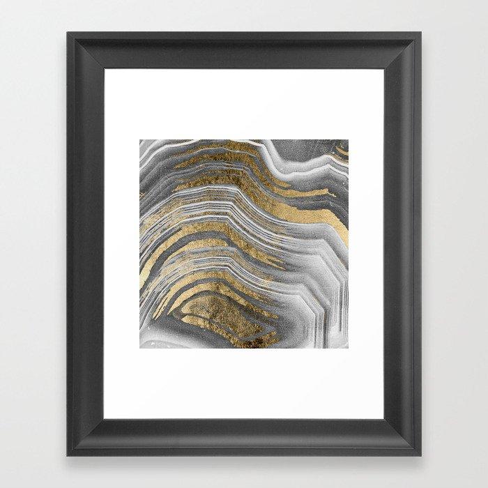 Abstract paint modern Gerahmter Kunstdruck