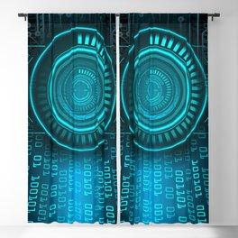 Futurist Matrix | Digital Art Blackout Curtain