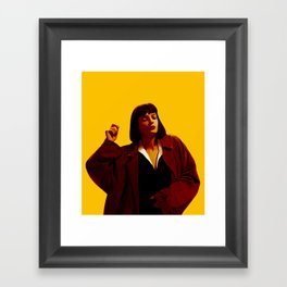 Mia Wallace - Yellow Framed Art Print
