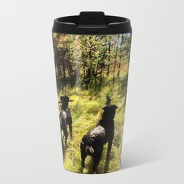 Tennis Ball Season Metal Travel Mug