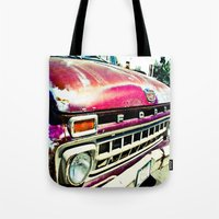 ford Tote Bags featuring Ford Tough by Kim Ramage