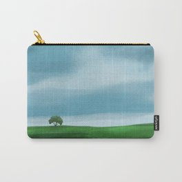 Clouds Rolling In Over Lone Tree Carry-All Pouch
