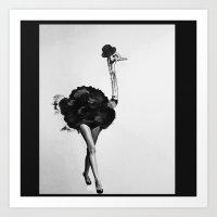The cabaret dancer Art Print