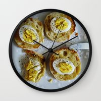 eggs Wall Clocks featuring Eggs by Patti Friday