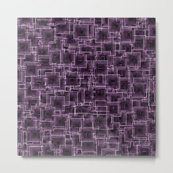 The Maze - Lilac Metal Print