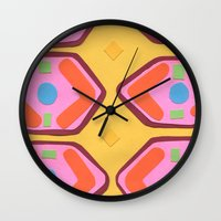 deco Wall Clocks featuring Deco by Hollis Campbell