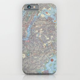 1956 Vintage Map of Greater New York City iPhone Case