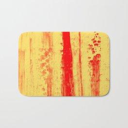 Gerhard Richter Inspired Abstract Urban Rain 3 Bath Mat