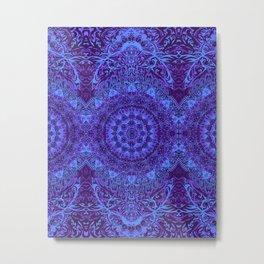 Indigo Mandala Metal Print