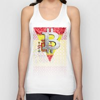 spain Tank Tops featuring bitcoin spain by seb mcnulty