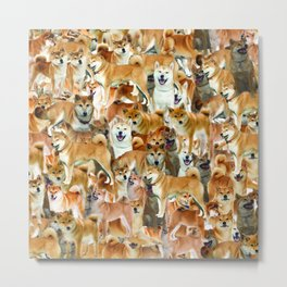 ALL THE DOGGOS Metal Print