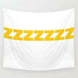 ZZZZZZ Yellow on White Wall Tapestry
