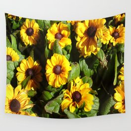 Yellow Daisy Patch Wall Tapestry