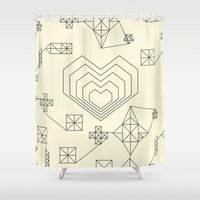 valentine Shower Curtains featuring Valentine by Leandro Pita