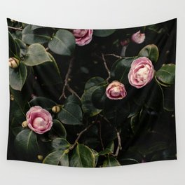 Pink Camellias Wall Tapestry