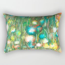 Dahlia flowers Love the Sun 1 Rectangular Pillow