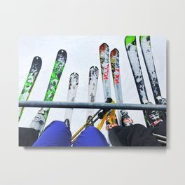 Ski All Day Metal Print