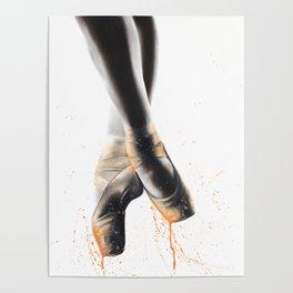 Peach Ballet Shoes Poster