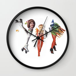 Disco and vegetables Wall Clock