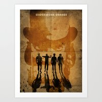 clockwork orange Art Prints featuring CLOCKWORK ORANGE by Fan Prints