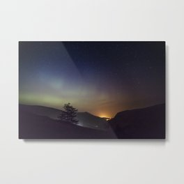 Northern lights in Donegal, Ireland Metal Print