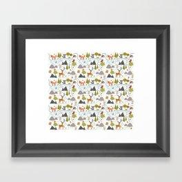 Funny Forest Map Framed Art Print