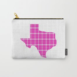 Texas State Shape: Pink Carry-All Pouch