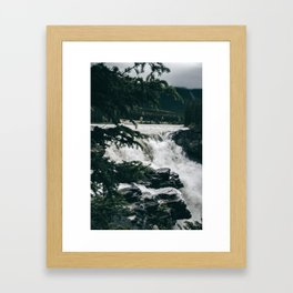 Athabasca Falls Framed Art Print