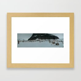 Dog Sledding Camp (Large) Framed Art Print