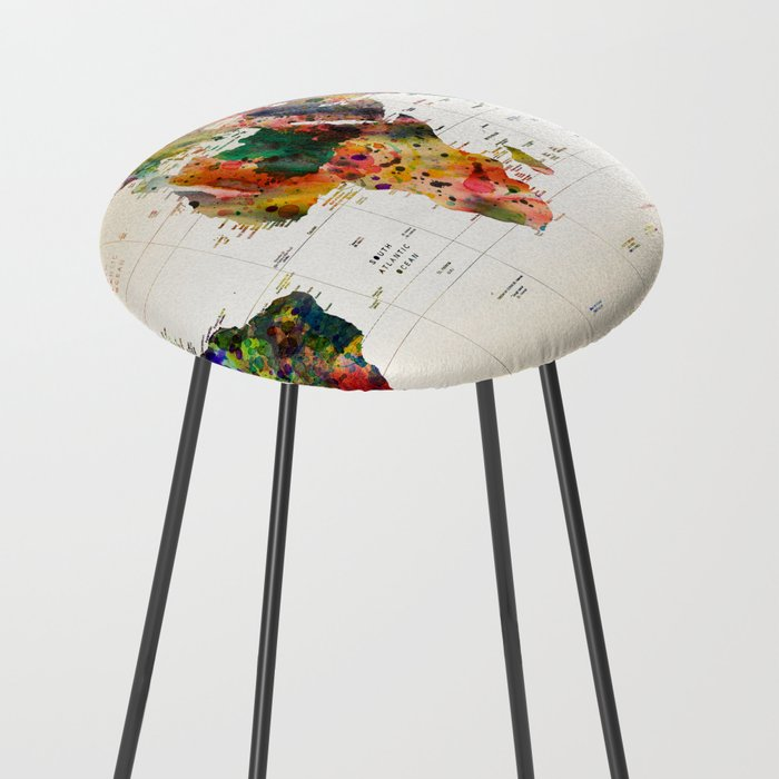 map Counter Stool