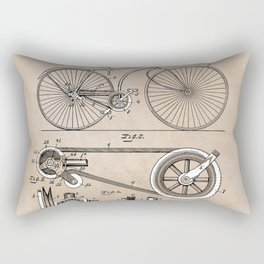 patent Bicycle 1890 Rice Rectangular Pillow