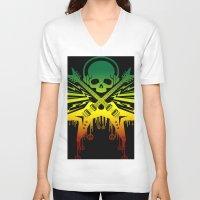 punk rock V-neck T-shirts featuring punk rock  by jhun21