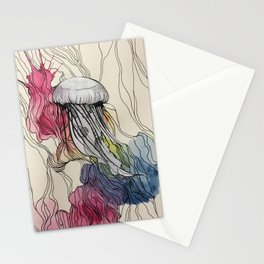 Watercolour Jellyfish Stationery Cards