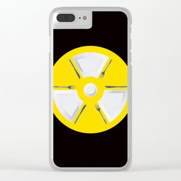 Polluted - Dinner Time Symbol Clear iPhone Case