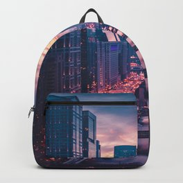 The Pink Cityscape (Color) Backpack
