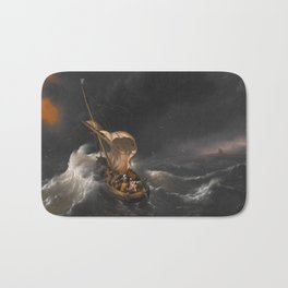 Christ in the Storm on the Sea of Galilee Bath Mat