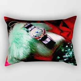 Time For Red And Green Stuff Rectangular Pillow