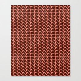 Sexy Lips Seamless Pattern Canvas Print