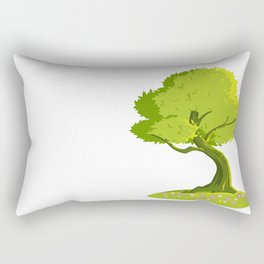 green tree Rectangular Pillow