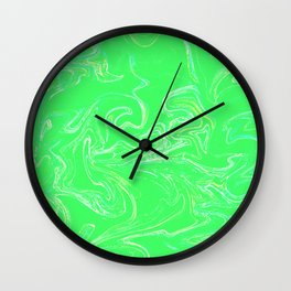 Neon green abstract Wall Clock