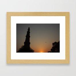 Qutub dusk Framed Art Print