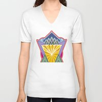 crown V-neck T-shirts featuring Crown by Losal Jsk