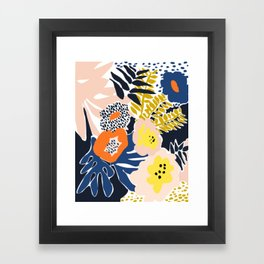 More design for a happy life - high Framed Art Print