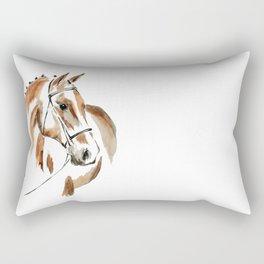 Bay Watercolour Horse Rectangular Pillow
